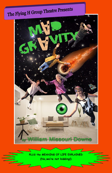 Mad Gravity Postcard Front