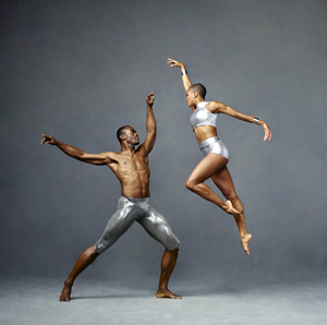 Alvin Ailey American Dance Theaters Akua Noni Parker and Jamar Roberts. Photo by Andrew Eccles