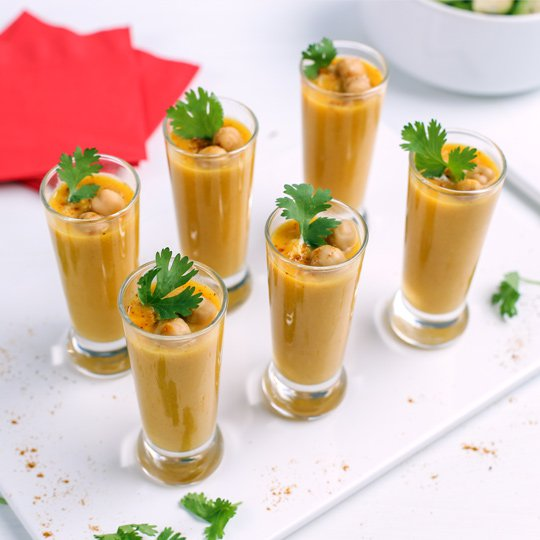 simply organic curried butternut squash soup shooters recipe45