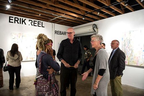 """Erik ReeL Solo Show of New Paintings """"Rebar"""""""