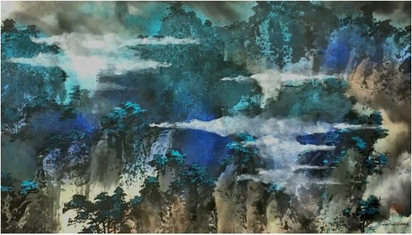 Christine Leongs Mountains in Blue