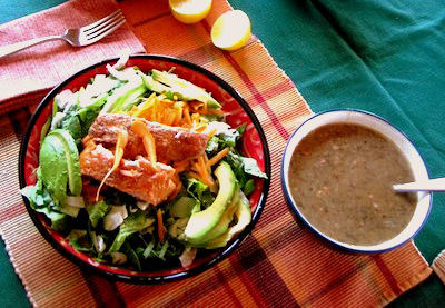 intro-Salmon Salad Table