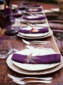 thanksgiving table setting with purple accents